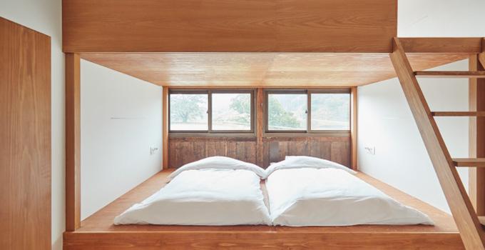 「何も置かない」をコンセプトにした全5室の客室。